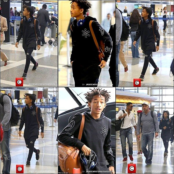 .  29/ 01/ 14 : Jaden, Trey et Will Smith ont été aperçu à L'aéroport de LAX à Los Angeles pour se rendre en destination de Dubai. .