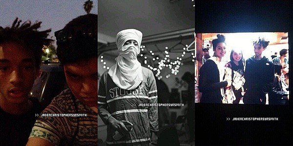 .  16/ 02/ 14 - Jaden a été aperçu aux bras de Kylie Jenner ainsi qu'avec ses amis dont sa cousine Jordyn Woods derrière une salle de cinéma à Los Angeles. TOP OU FLOP ?   .