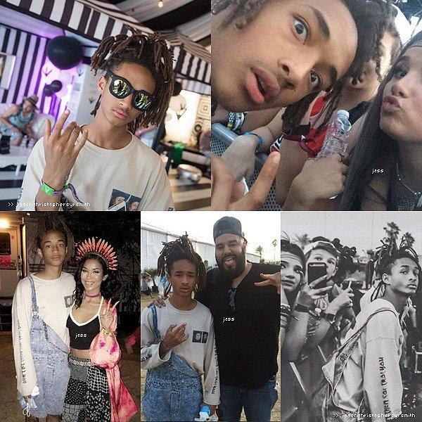 .  ||22.04.16 || Jaden Smith était présent pour la deuxième semaine et le premier jour du festival Coachella 2016 , il y a également performé.  .