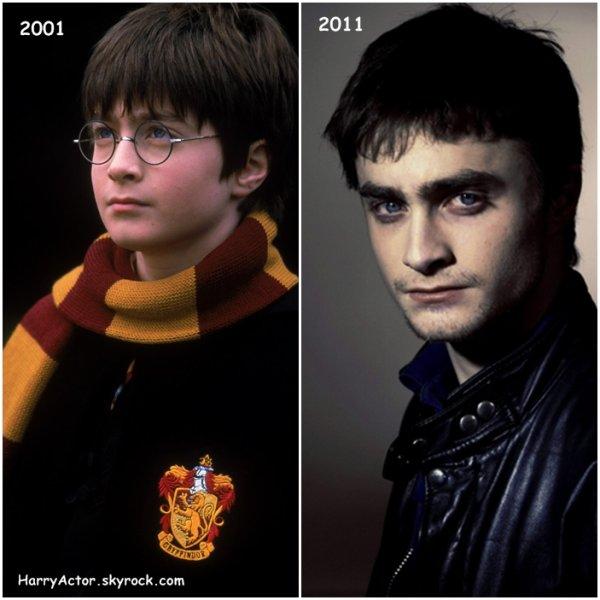 Daniel Radcliffe a bien changer en 10 ans. Il avait 11 ans sur la premiere photo et 21 aujourd'hui.Je le préfère maintenant,Et vous?