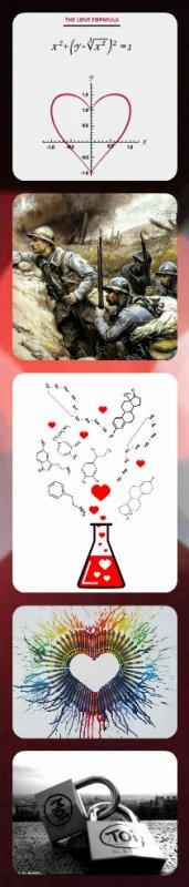 c'est quoi l'amour? en math: un problème, en histoire: une guerre, en chimie: une réaction, en art-plastique : un c½ur, en moi: toi.