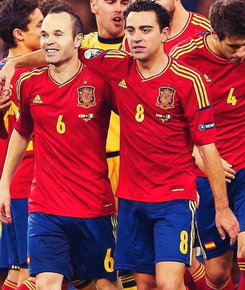 Xavi , Iniestaaaaaaaaa !! Best in History