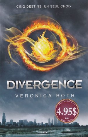 .   Divergence tome 1 : Divergent Veronica Roth .