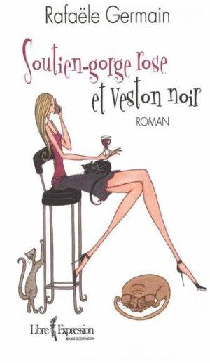 .  Soutien-gorge rose et veston noir Rafaële Germain .