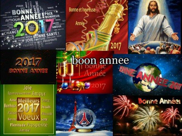 Bonne année à tous  et bonne fête