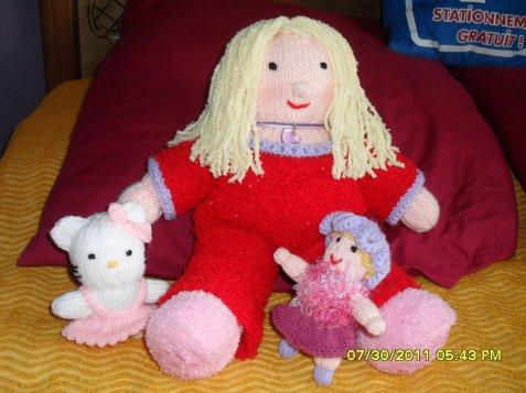 une poupée avec ces doudous !!!!