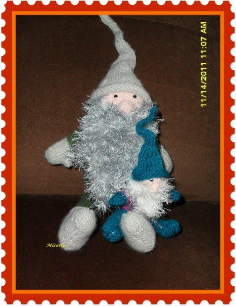 Gnomes et un petit Renne de Noël