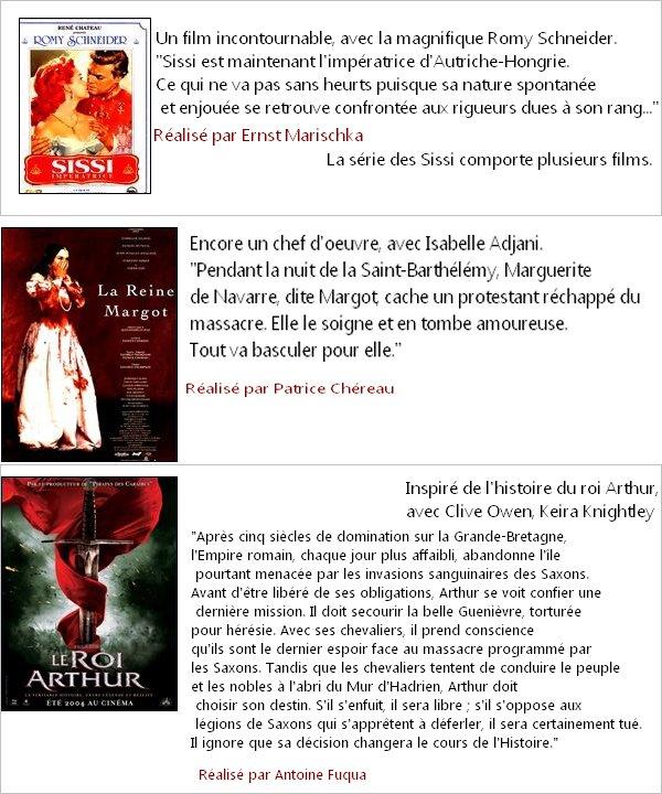 DOSSIER : Les films historiques : Les rois, les princesses et les reines.