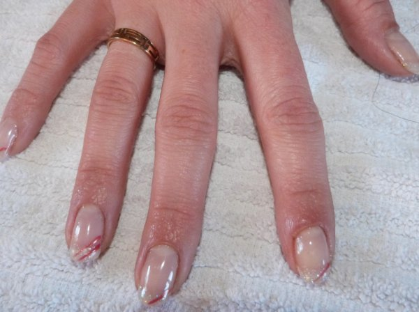 Samantha :Pose gel+french+deco sur ongle naturel