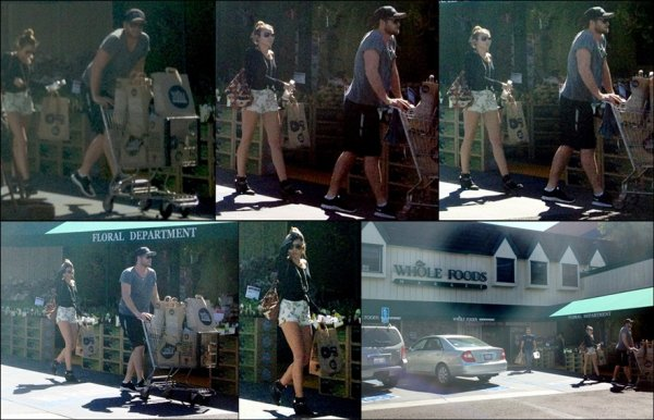 . [08/04/2012] Plus tôt dans la semaine, Miley a été vu faisant ses courses à Whole Foods à Sherman Oaks, en compagnie de Liam. Que pensez-vous de sa tenue ? . TOP ou FLOP ? . . Happy Easter! Qu'avez-vous fait de spécial aujourd'hui ? .