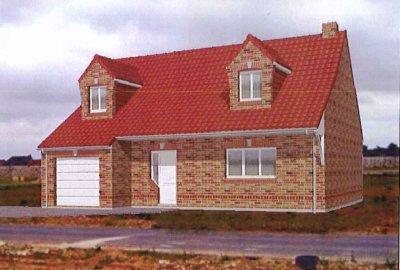 Visu de la maison par le dessinateur (façade)