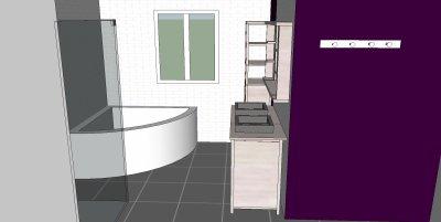 Le projet de salle de bain...