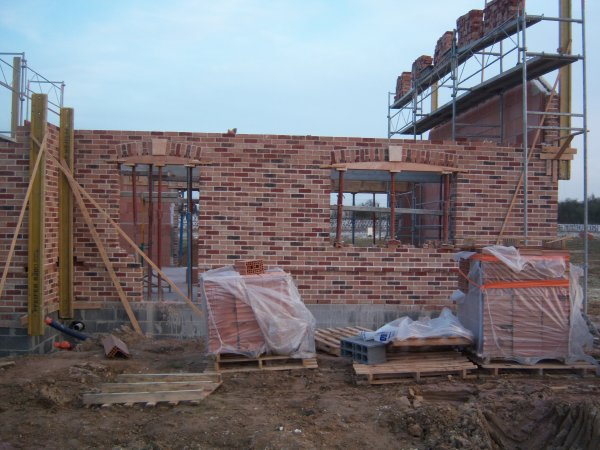 21 et 22 mars 2012 : réalisation des linteaux faux cintre