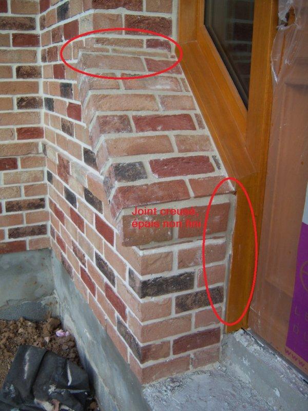03/08/2012 : Correction de la maçonnerie tierce tronquée, enfin !