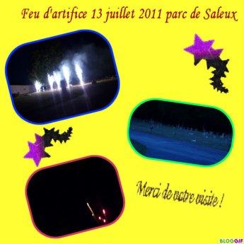 Retraite au flambeau et feu d'artifice 13 juillet 2011 Saleux