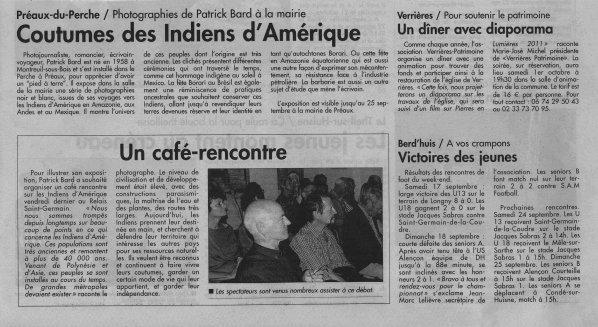"""CONFERENCE /EXPO PATRICK BARD """"INDIENS D'AMERIQUE DU SUD"""""""