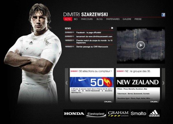 Lancement du site officiel de Dimitri Szarzewski