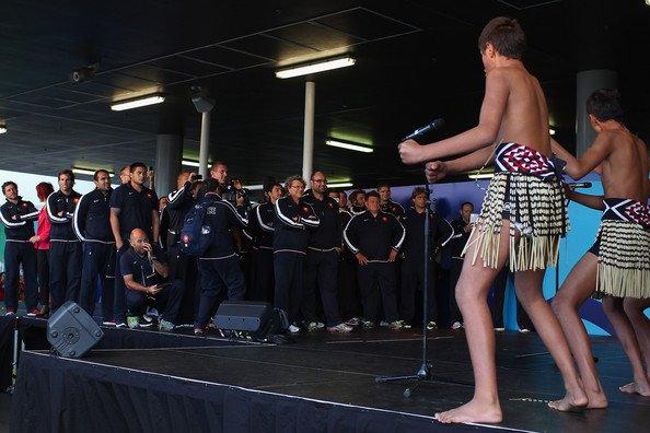 Arrivée des Bleus en Nouvelle-Zélande