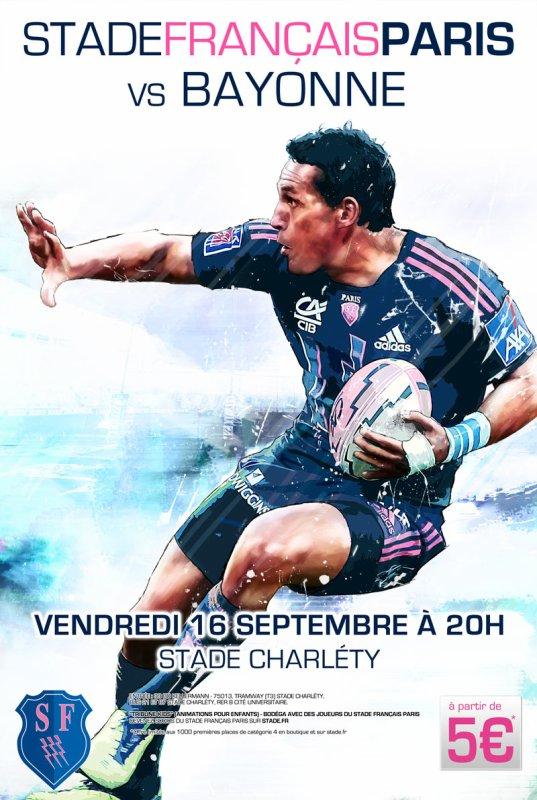 Stade Français - Bayonne 4e journée de Top 14