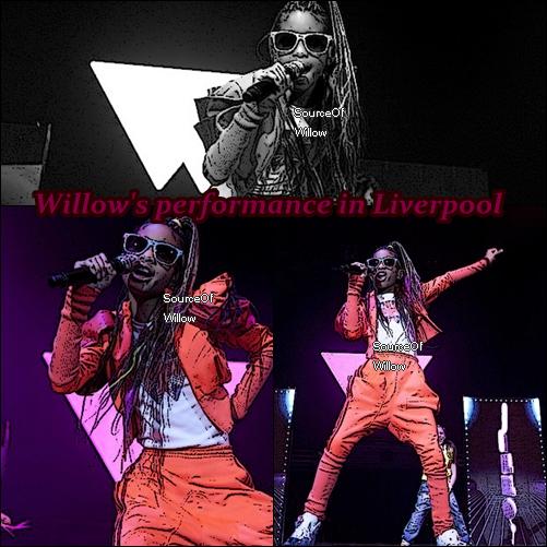 SourceOfWillow 16/03:Willow donnait un concert a Liverpool pour My World Tour vers debut mars +New photo que Willow a posté sur Facebook. Belle non ? SourceOfWillow