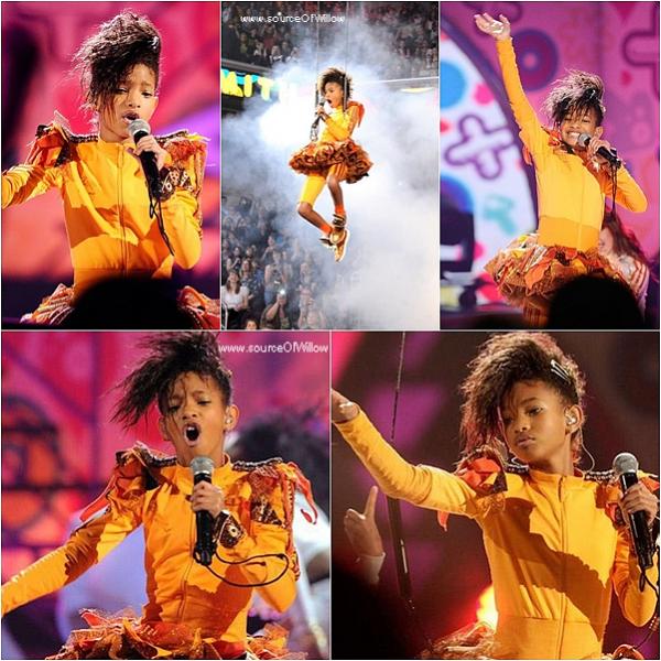 sourceofwillow 03/04 : Willow Smith performe WMH et 21Century Girl au Kids Choices Awards ! excusez mon retard! sourceofwillow