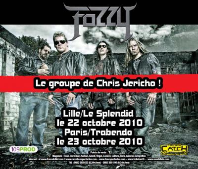 CHRIS JERICHO et FOZZY en concert en France!