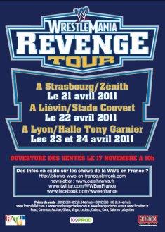 Wrestlemania Revenge tour 2011: récap mise en vente