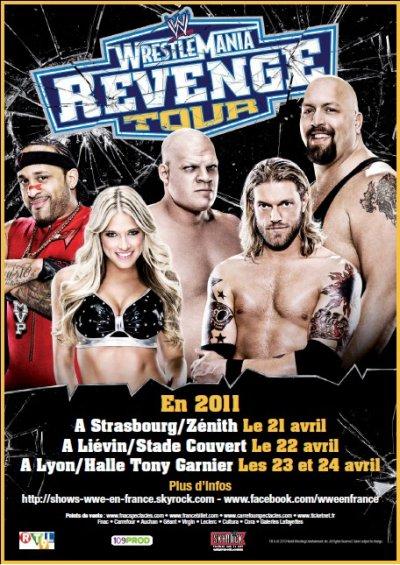 Infos tournée WWE Wrestlemania Revenge Tour