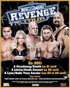 Nouveau visuel tournée WWE avril 2011