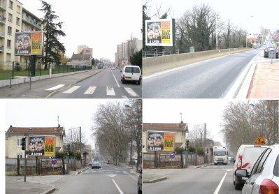 Quelques affiches de la campagne à Lyon!