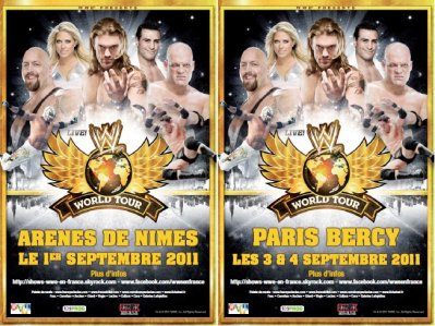Infos WWE NÎMES et BERCY septembre 2011