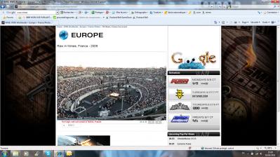 Show WWE 2009 à Nîmes vu du haut des Arènes!