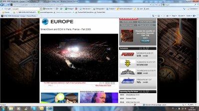 Et la WWE à Bercy vue du haut de la salle!