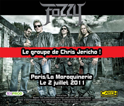 FOZZY et Chris Jericho en concert unique à Paris