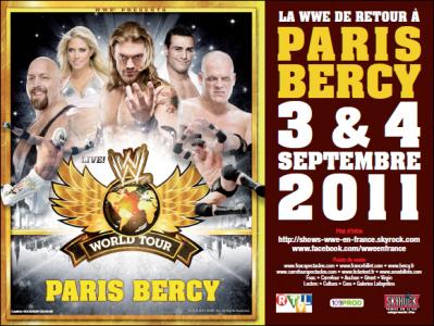 Affiche WWE Paris dans le métro
