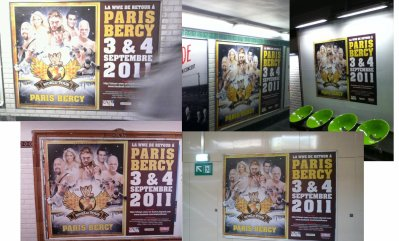 Photo campagne d'affichage WWE Paris