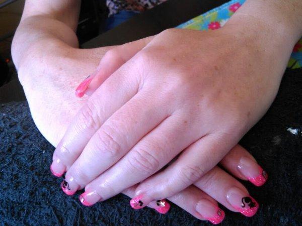 Pose d ongle gel deco nail art