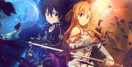 sword art online (SAO) kirito x asuna