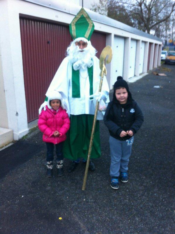 Mes petits enfants ont croisé le St Nicolas
