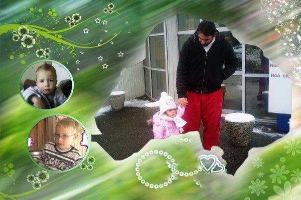 mon fils et les petits enfants
