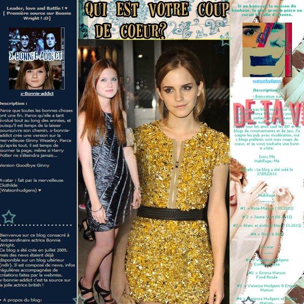 """""""Dans le milieu de tournage des reliques de la mort , Je suis sortie dîner avec Bonnie Wright et nous avons commencé à parler de ce que nous avions vraiment besoin de faire pour marquer la fin de cette importante part de nos vies...et là j'ai eu l'idée de couper mes cheveux . C'était comme une manière appropriée de dire au revoir à Hermione . """" Emma Watson"""