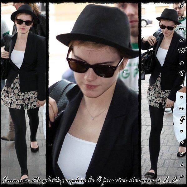 Emma a été photographié le 8 janvier dernier à Los Angeles