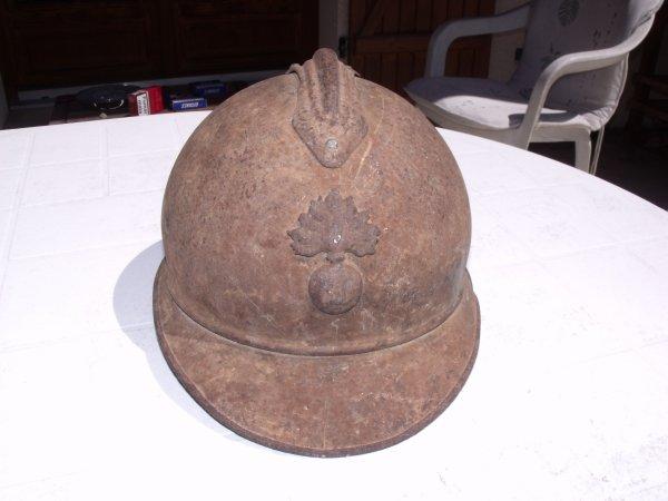 Restauration Casque Adrian de l'Infanterie modèle 1915