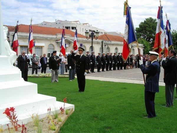 Cérémonie au monument aux Morts de la Teste de Buch le 14 Juillet 2009 (2eme partie)