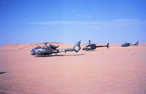"""Guerre du golfe 1990/1991 l'Arabie Saoudite """"MIRAMAR"""" suite: les hélicoptères"""