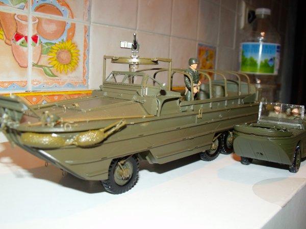 GMC DUKW 353 et Jeep Ford GPA réalisés par ma fille Laura