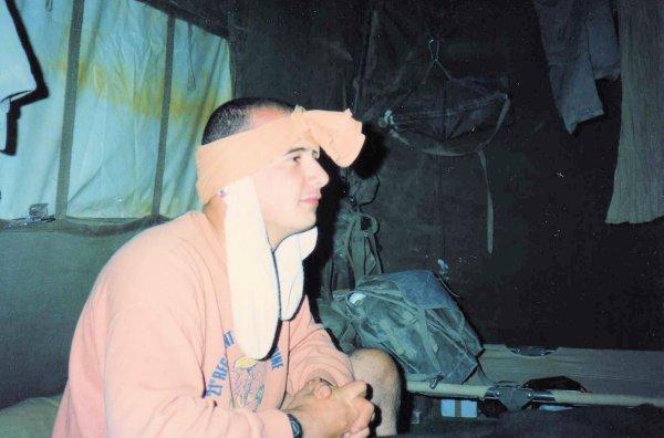 """Guerre du Golfe 1990/1991      """"MIRAMAR""""         La tente équipages Trans du 21"""