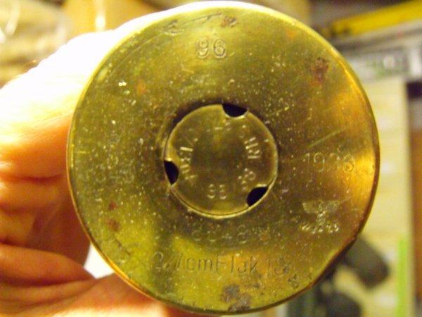 étui d'Obus allemand de 37mm année 1938
