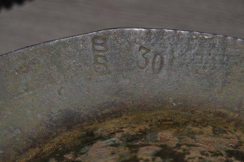 """""""Helmet, Steel, Mark I, 1916""""."""