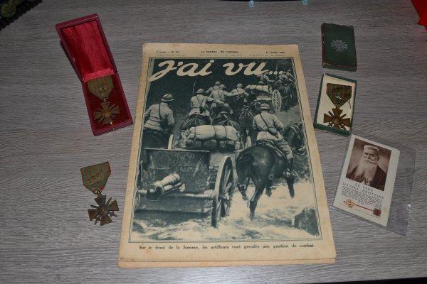 """croix de guerre 1914/1918,revues """"j'ai vu"""" ,allocution obsèques du Père BROTTIER"""